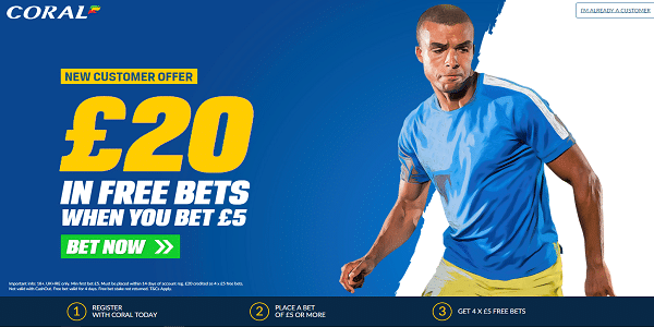 Coral Free Bets Offer 2019