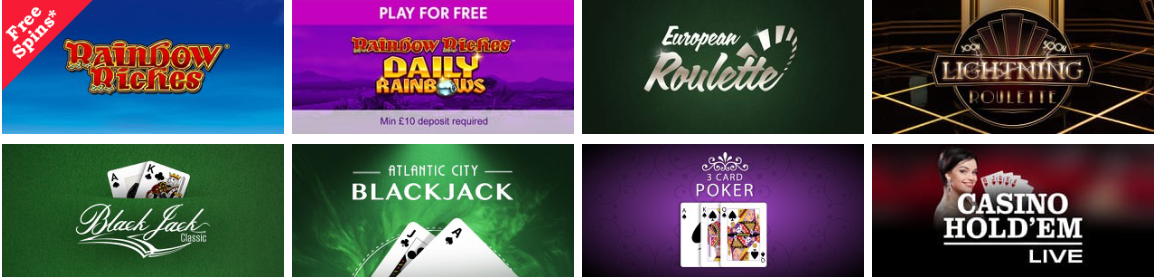 Promo Code for Rainbow Riches Casino 2020