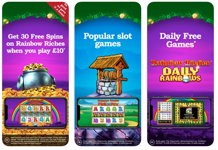 Rainbow Riches Welcome Bonus on Mobile