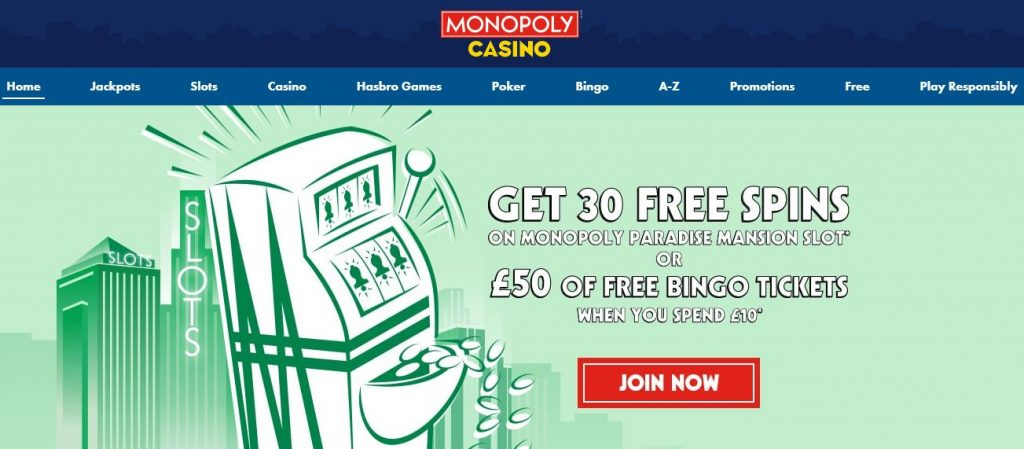 monopoly sign up offer